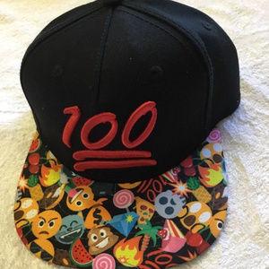 One Hundred 100 Points Emoji Emoticon hat